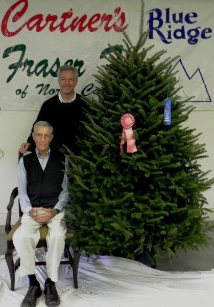 Sam and David with their 2013 NC Grand Champion Christmas Trees.